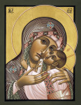 "Mary and the Child Jesus are portrayed in the icon ""Mother of Fairest Love"" by Father William Hart McNichols (2010). (CNS photo/St. Andrei Rublev Icons)"